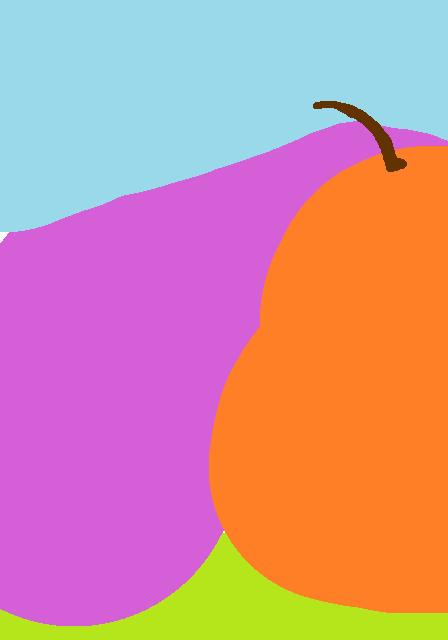 An orange pear.